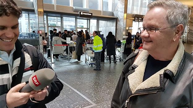 Nervosität bei der Ankunft am Flughafen