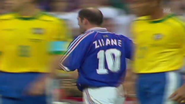 Video «Fussball: Zidanes Tor zum 1:0 im WM-Final 1998» abspielen