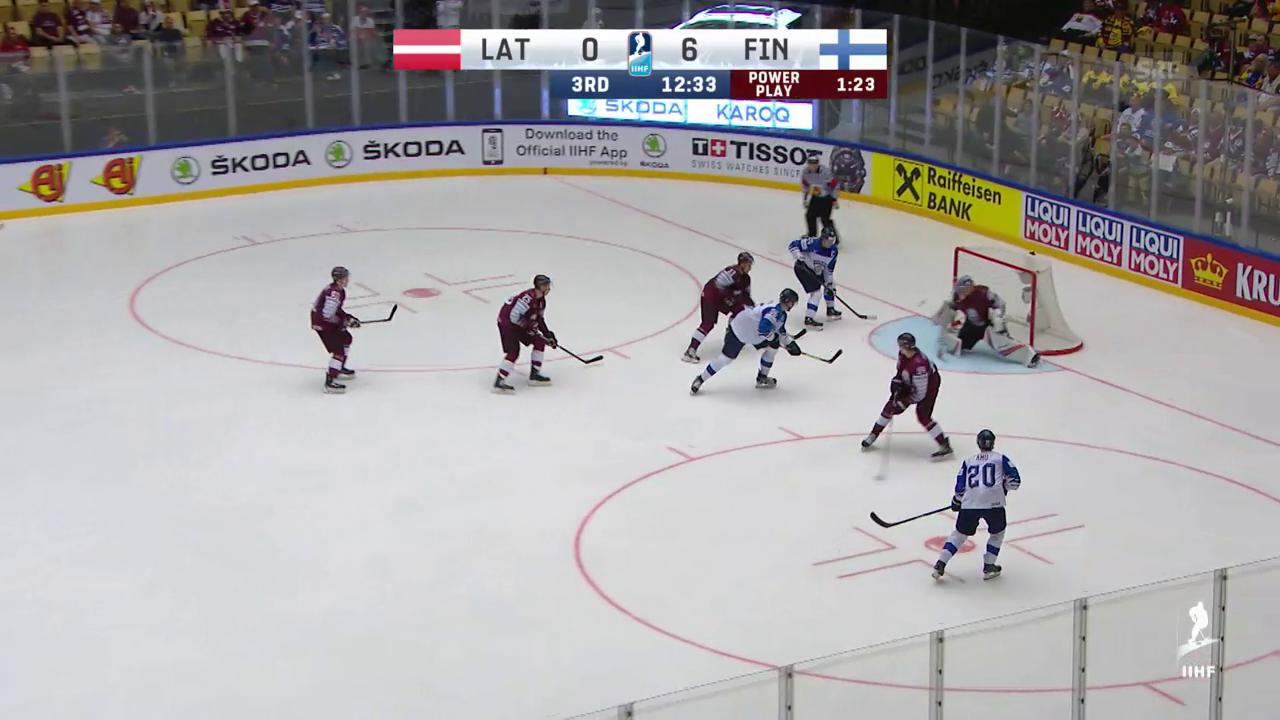 Die Tore bei Lettland - Finnland