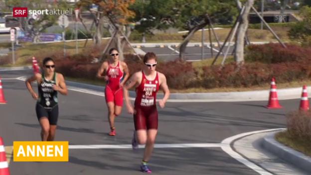 Video «Triathlon: Annen Weltcup-Zweite in Südkorea» abspielen
