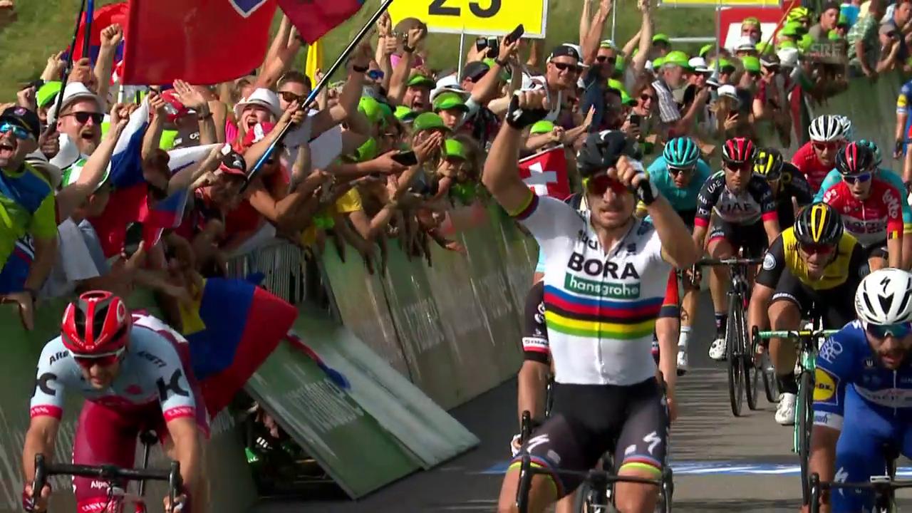 Sagan sprintet an der 2. Etappe zum Sieg