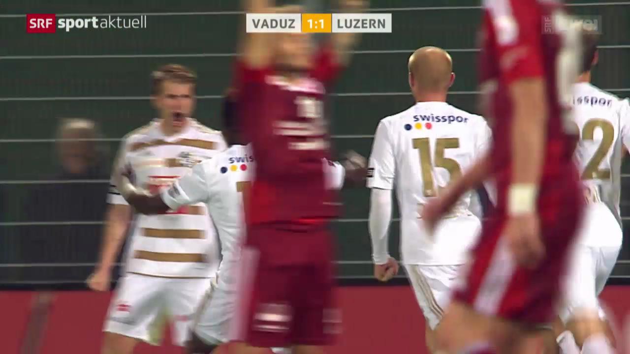 Fussball: Zusammenfasung Vaduz - Luzern