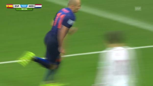 Video «Fussball: WM 2014, ESP-NED, 5 holländische Tore» abspielen