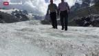 Video «Gletscher leiden unter Hitzesommer» abspielen
