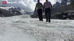 Video «Gletscher leiden unter Hitzesommer » abspielen