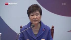 Video «Südkorea entmachtet Präsidentin Pak» abspielen