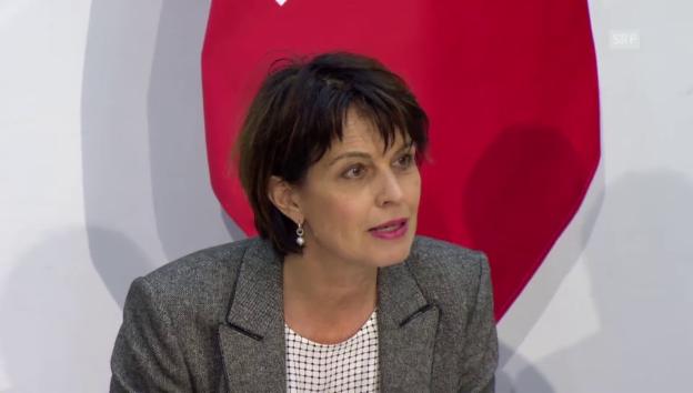 Video «Medienkonferenz mit Bundesrätin Leuthard zum NAF» abspielen
