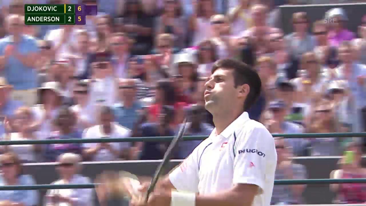 Tennis: Wimbledon 2015, Zusammenfassung Achtelfinal Djokovic-Anderson