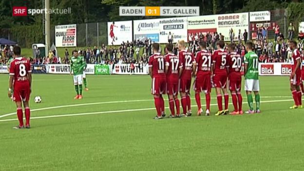 Video «Fussball: Cup, Baden - St. Gallen» abspielen