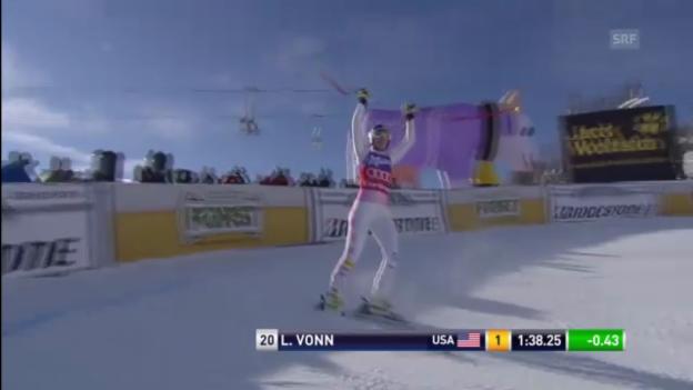 Video «Ski alpin: Lindsey Vonn bei der Abfahrt in Cortina («sportlive»)» abspielen