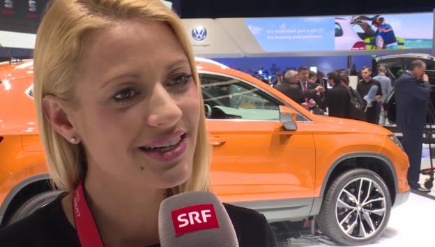 Video «Prominente am Autosalon in Genf über Klischees» abspielen