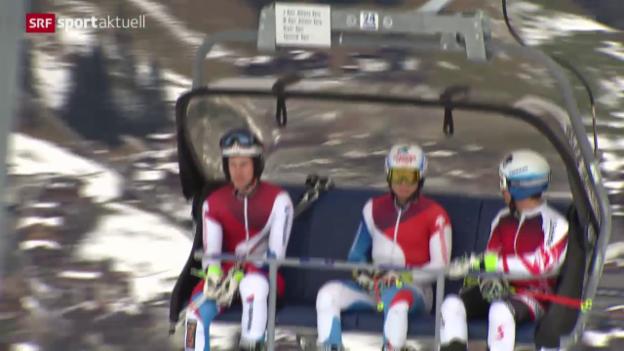 Video «Ski alpin: Weltcup der Männer, Vorschau auf Riesenslalom in Adelboden» abspielen