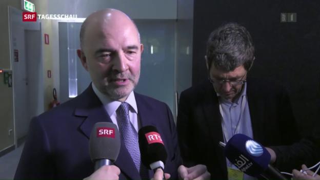 Video «Moscovici: «Wir setzten weiter auf Diaog»» abspielen