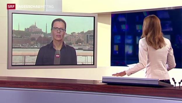 Video «SRF-Korrespondentin Ruth Bosshart zum Bombardement» abspielen