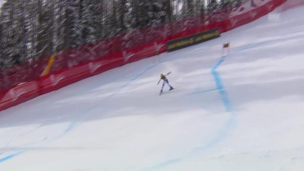 Video «Ski: Super-G Cortina, Sturz Gisin» abspielen