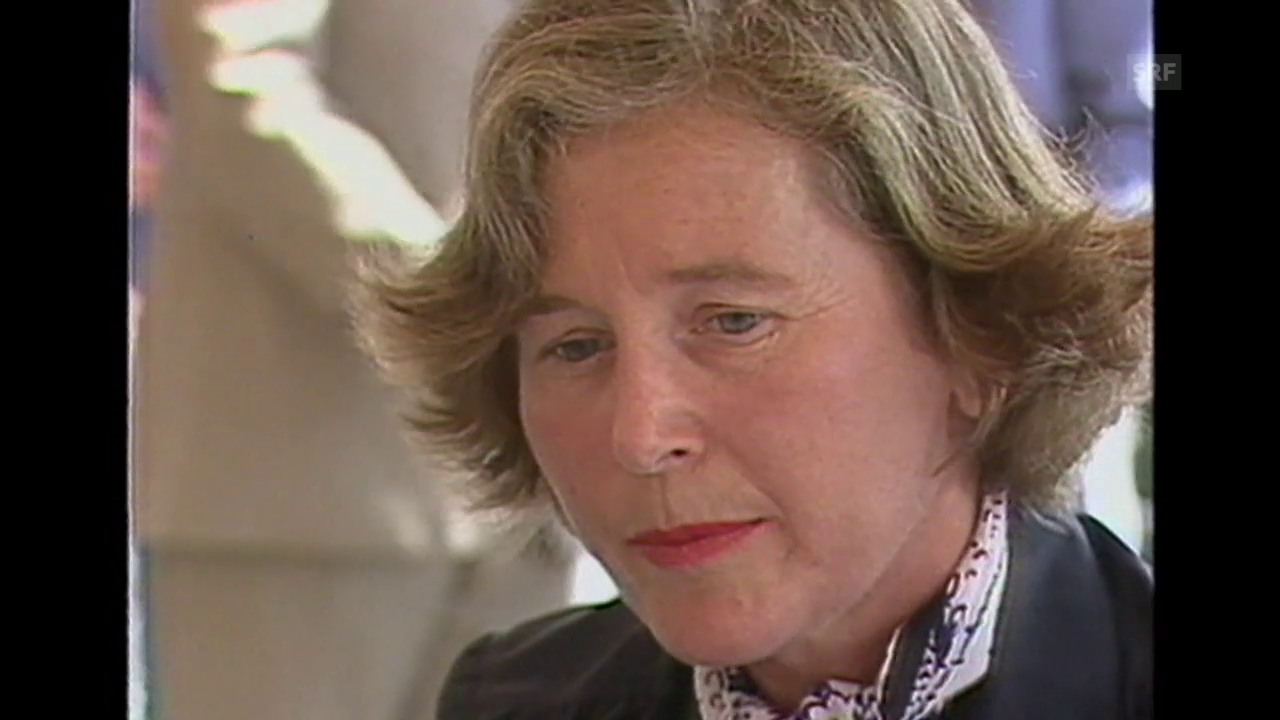 Elisabeth Kopp über die Relevanz von Film (Kamera läuft, 11.8.1985)