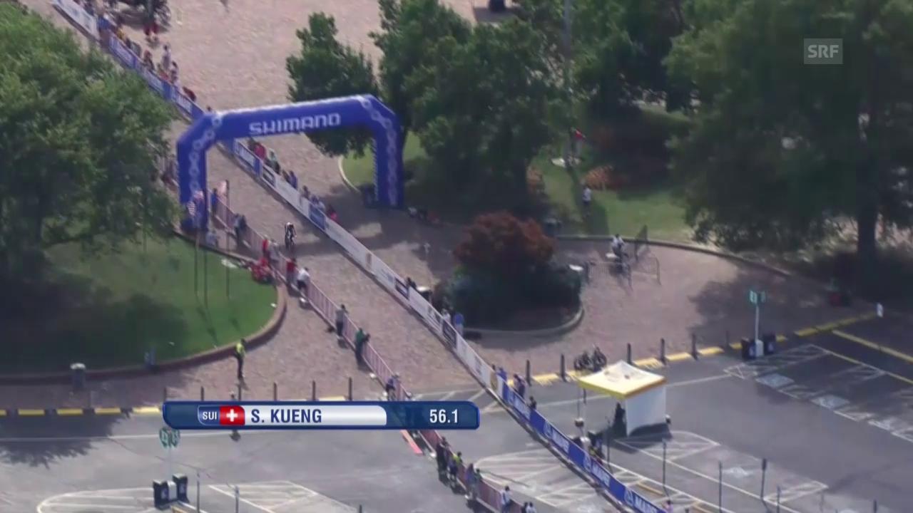 Rad: WM 2015, Einzelzeitfahren, Start Stefan Küng