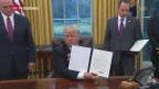Video «Trump legt los mit Erlassen und Ankündigungen» abspielen