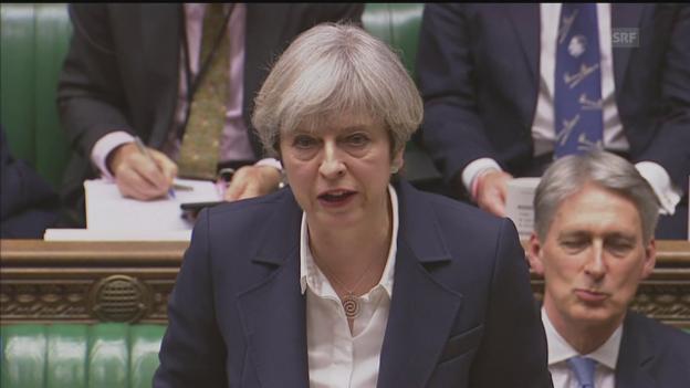 Video «Unkommentiert: Mays Rede vor dem Parlament» abspielen