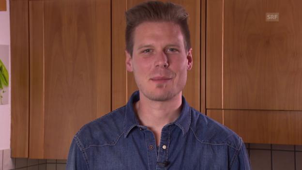 Video ««SRF bi de Lüt – Männerküche»: Beat Büschlens Motto» abspielen