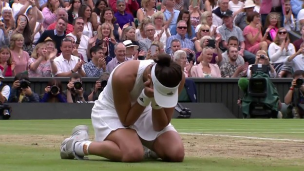 Video «Muguruza triumphiert in Wimbledon» abspielen