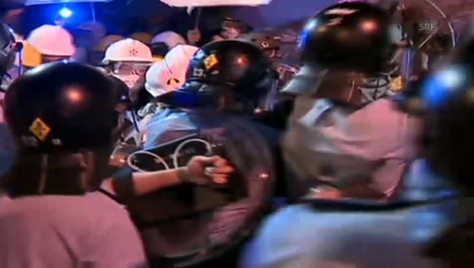 Zusammenstösse zwischen Polizei und Aktivisten in Hongkong