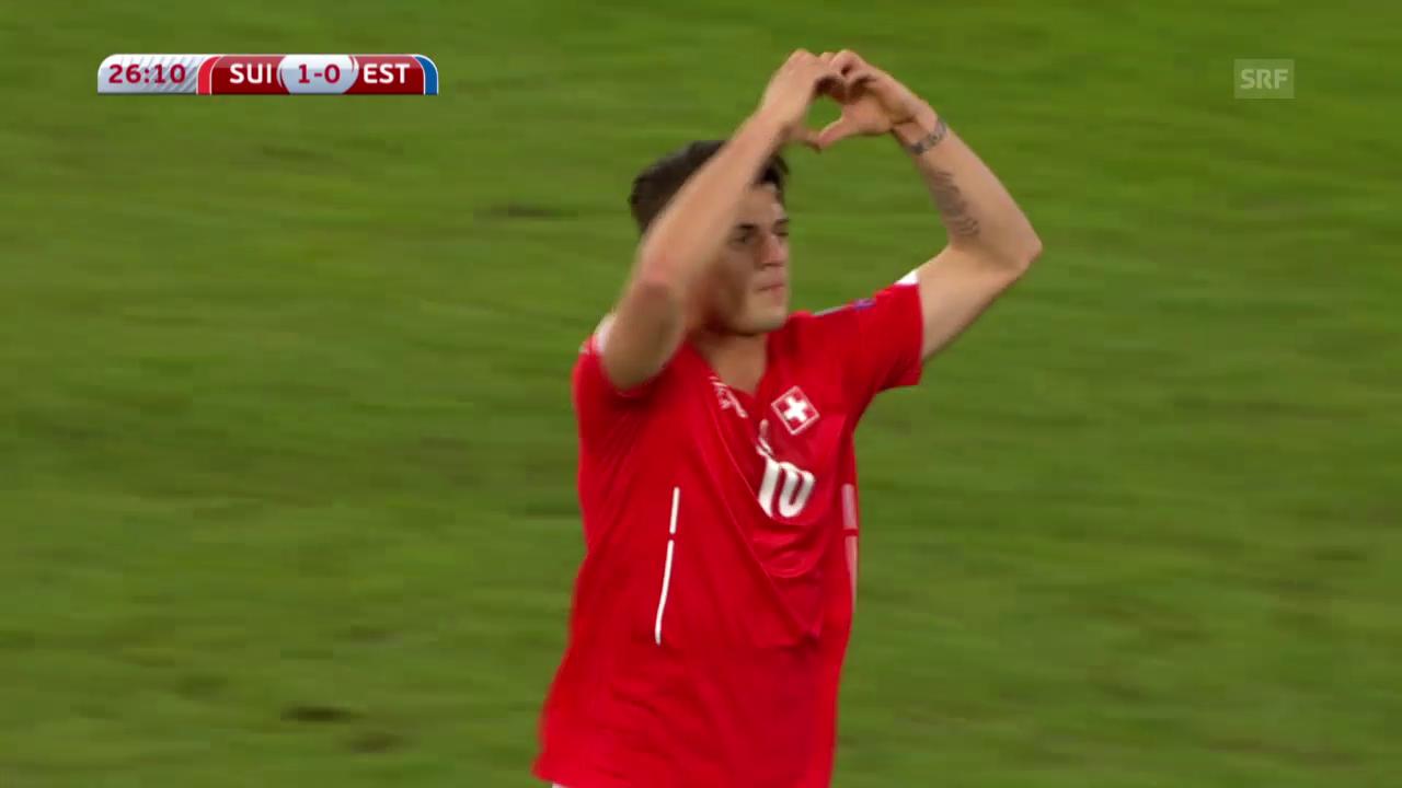 Fussball: EM-Qualifikation, Schweiz - Estland, die Tore