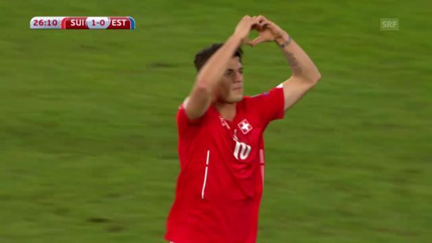 Video «Fussball: EM-Qualifikation, Schweiz - Estland, die Tore» abspielen