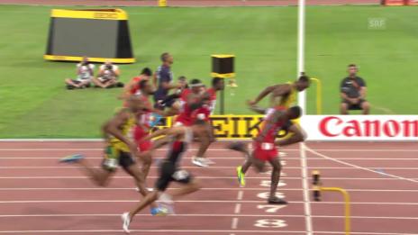 Video «Leichtathletik: WM Peking, 100-m-Final der Männer» abspielen