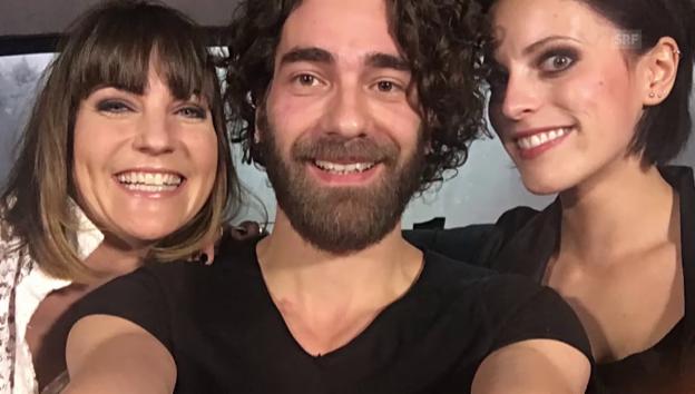 Video «Annina Frey und Silbermond im Vier-Minuten-Talk in der Limo» abspielen