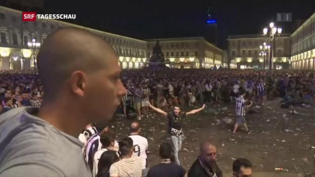 Video «Verletzte bei Massenpanik in Turin» abspielen