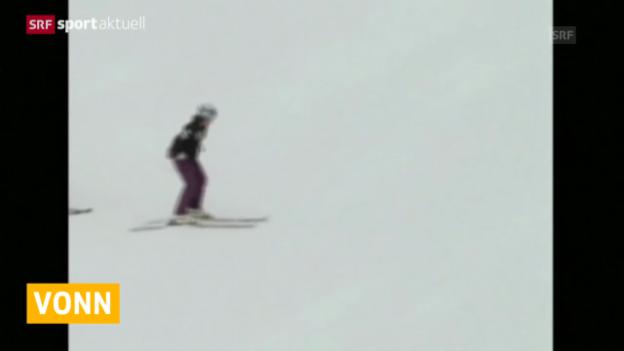 Video «Lindsey Vonn erneut verletzt» abspielen