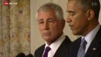 Video «US-Verteidigungsminister tritt zurück» abspielen