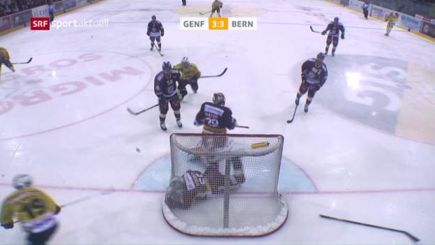 Video «Genfs Vukovic rettet spektakulär für seinen Keeper» abspielen