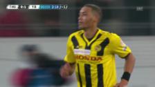 Video «Fussball: Thun-YB, Siegtor Hoarau» abspielen