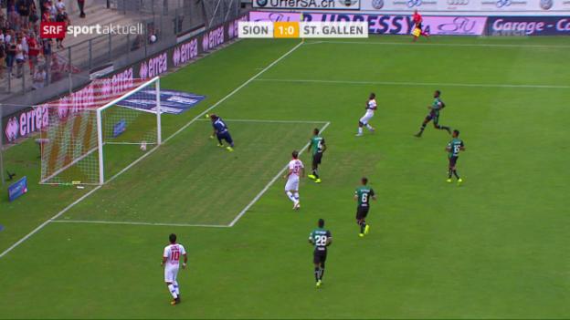 Video «Sion mit verdientem Sieg gegen St. Gallen» abspielen