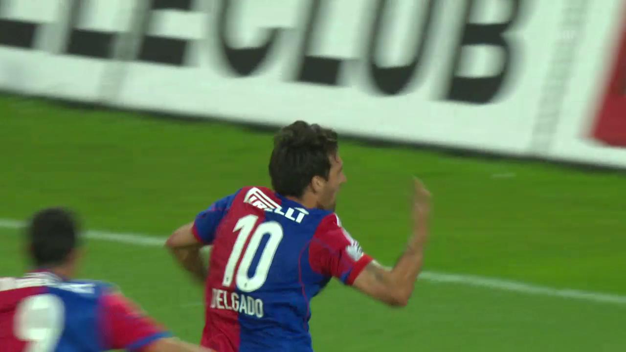 Delgados Tor im Meisterschaftsfinale 2014 gegen Aarau