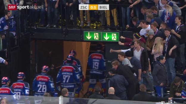 Video «Eishockey: Playoffs, ZSC - Biel» abspielen