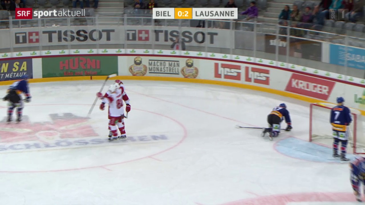 Eishockey: Biel - Lausanne