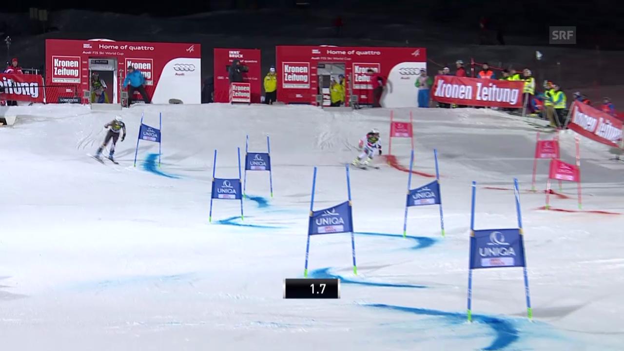 Ski: Team Event Innsbruck, kleiner Final Wendy Holdener - Resi Stiegler («sportlive», 25.02.2014)