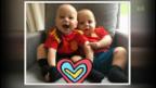 Video «Anna Kournikova und Enrique Iglesias zeigen ihre Zwillinge» abspielen