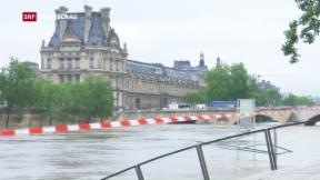 Video «Weiterhin keine Unwetter-Entwarnung in Deutschland und Frankreich» abspielen