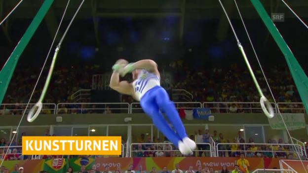 Video «Turnen kompakt: Petrounias zaubert, Biles patzt» abspielen