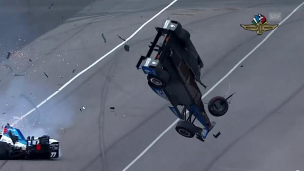 Video «Indy 500: Horror-Crash, Alonso-Out und Sato-Premiere» abspielen