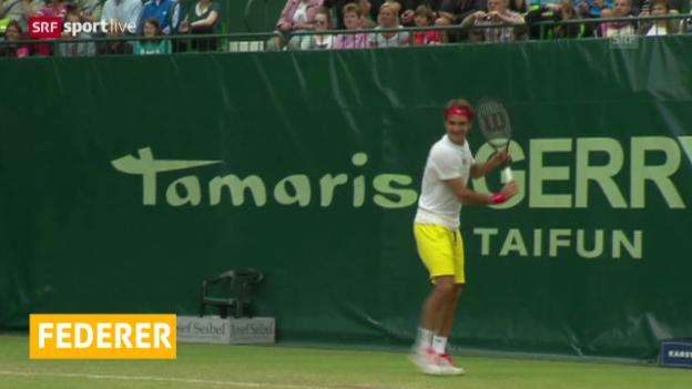 Video «Tennis: ATP-Turnier in Halle, Federer kampflos im Halbfinal» abspielen