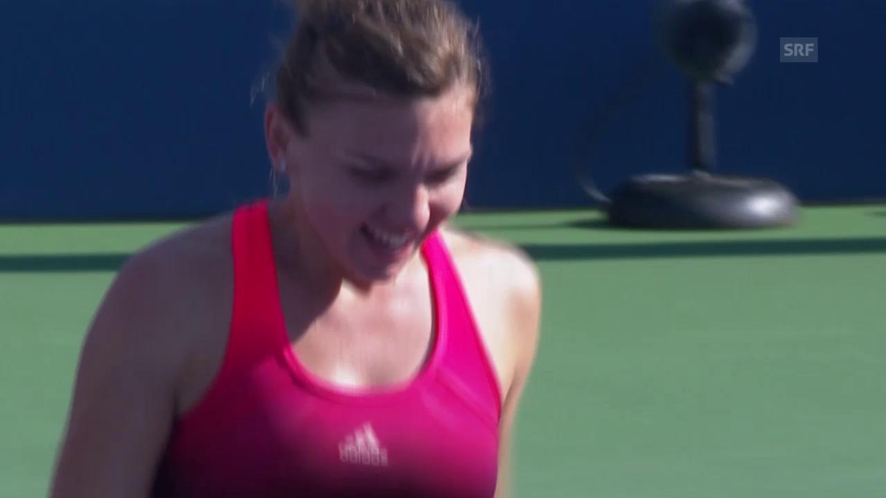 Tennis: US Open 2015, Frauen-Achtelfinal, Simona Halep - Sabine Lisicki