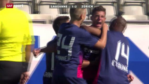 Video «Fussball: Lausanne - Zürich («sportpanorama»)» abspielen