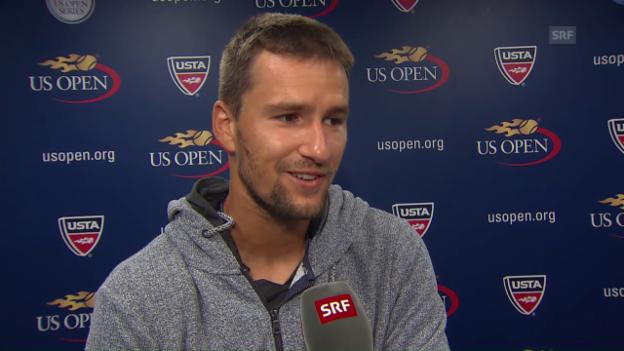 Video «Chiudinelli über sein bitteres Out an den US Open» abspielen