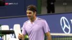 Video «Federer dreht Partie gegen Del Potro» abspielen