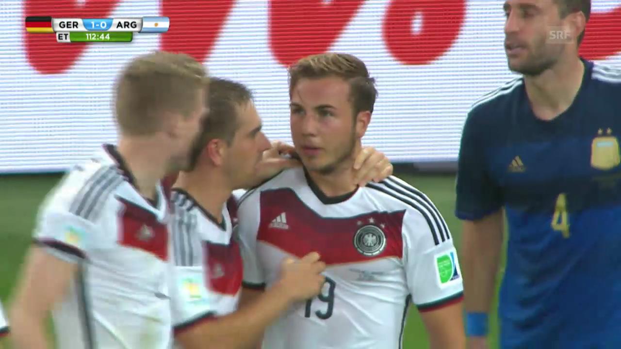 WM 2014: Mario Götzes Tor zum deutschen Sieg